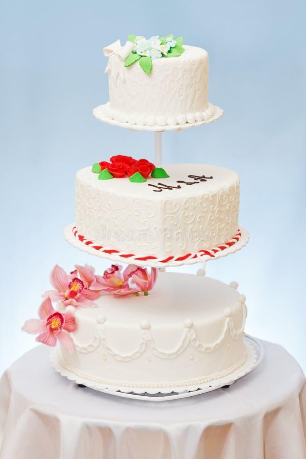 Modelos dos bolos de casamento imagem de stock