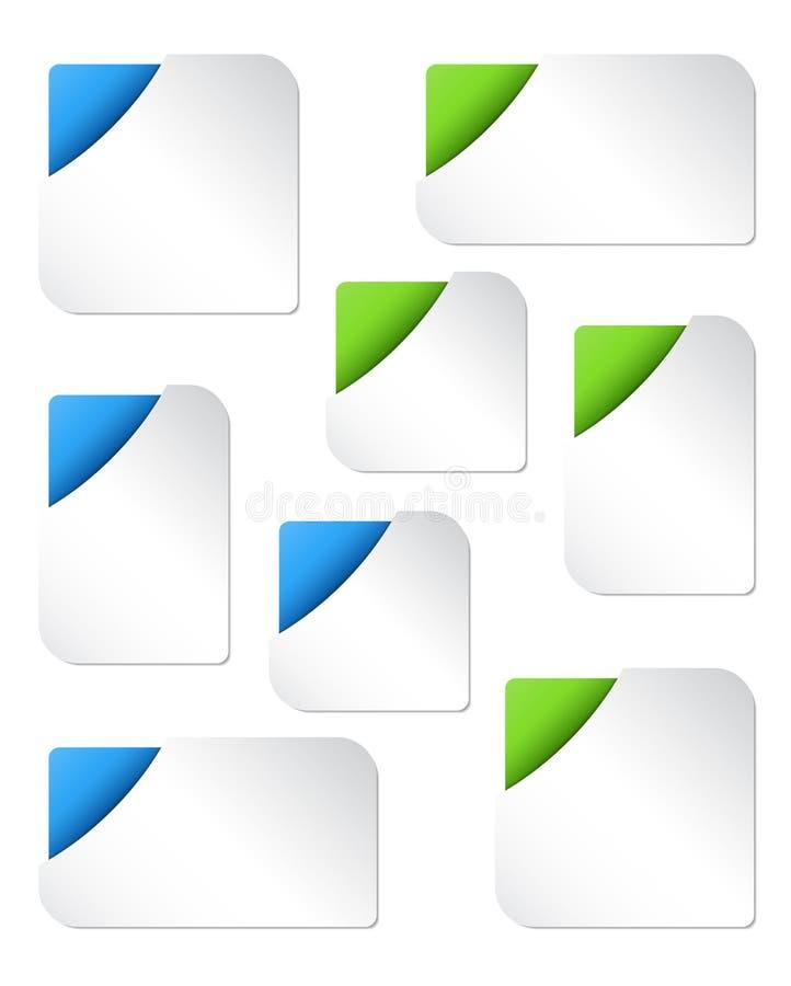 Modelos en blanco de la bandera del Web ilustración del vector