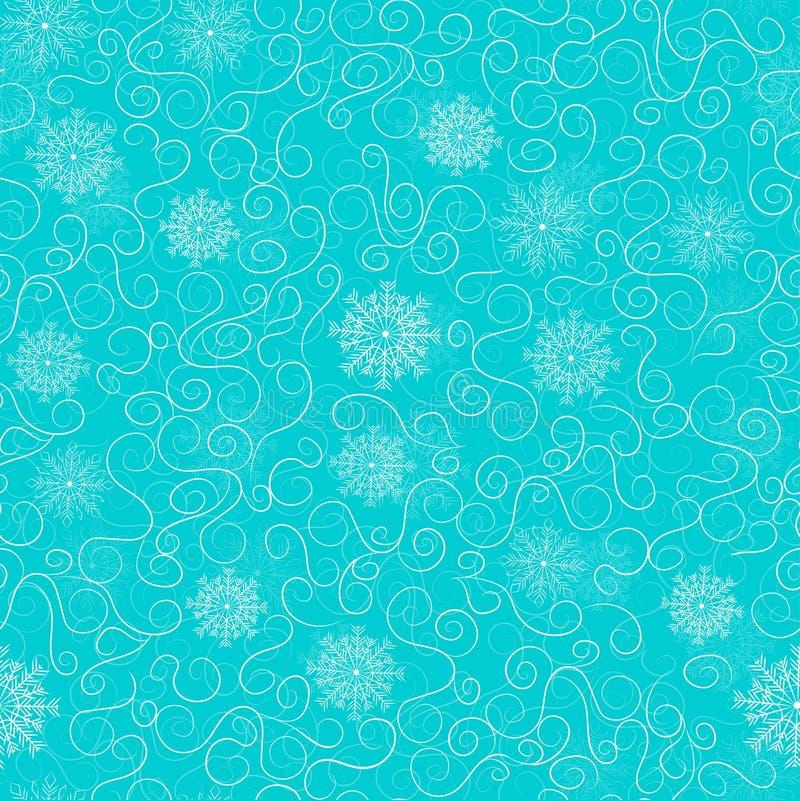 modelos escarchados en un fondo azul, modelo inconsútil libre illustration