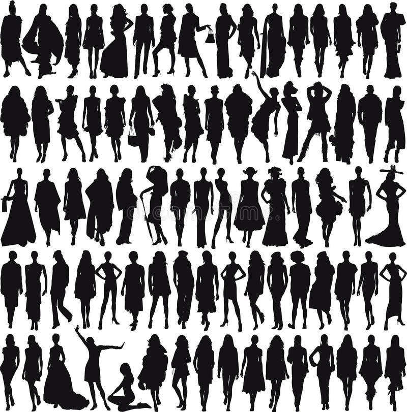 Modelos fêmeas ilustração royalty free