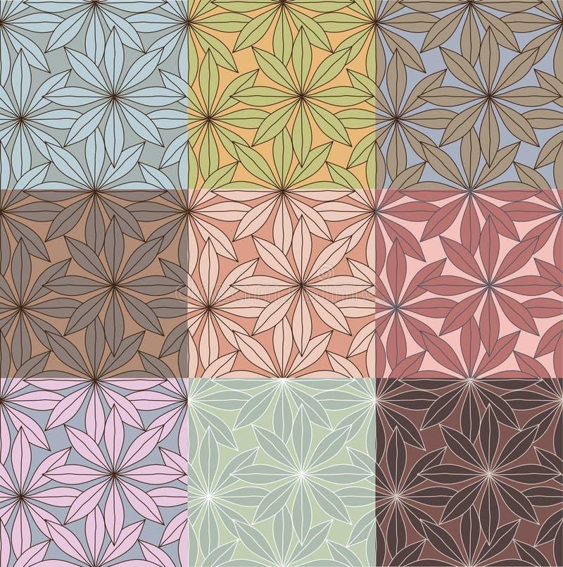 Modelos florales ilustración del vector