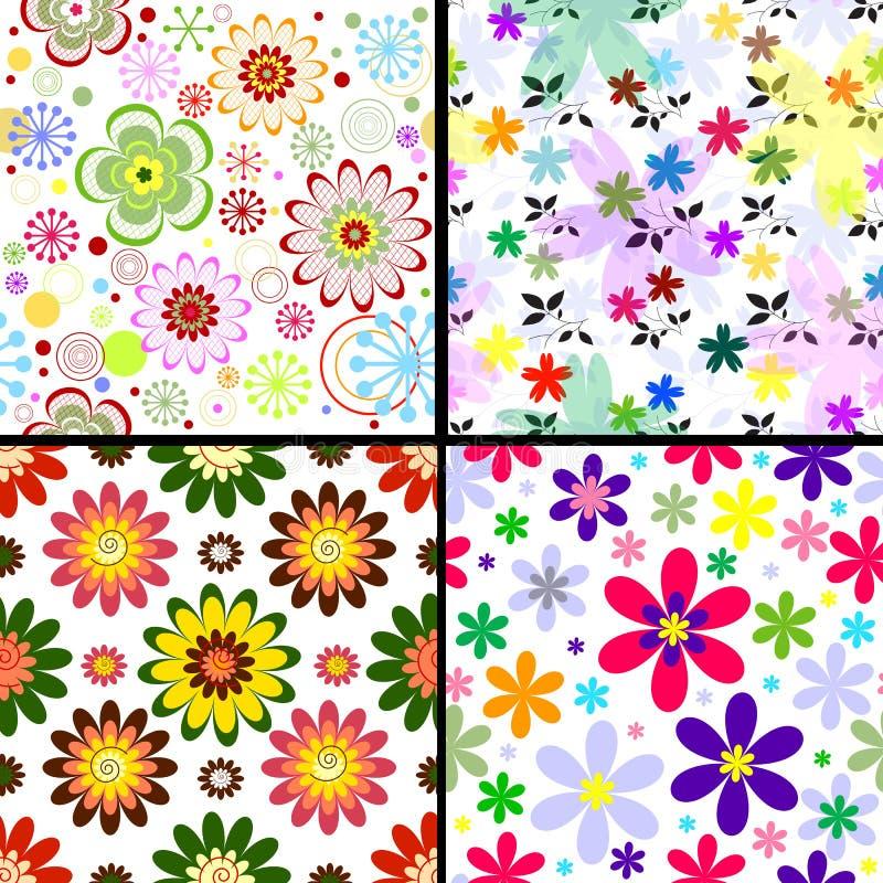 Modelos florales inconsútiles determinados ilustración del vector