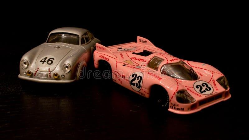 Modelos fundidos protótipos de Porsche foto de stock royalty free
