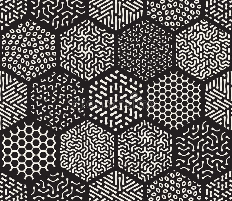 Modelos hexagonales inconsútiles del revoltijo del vector ilustración del vector