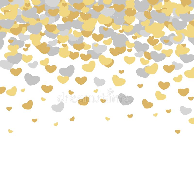 Modelos ilustrados vector del día del ` s de la tarjeta del día de San Valentín Fondos lindos de la boda de la teja con los coraz stock de ilustración