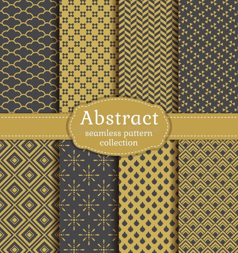 Modelos inconsútiles abstractos Sistema del vector ilustración del vector