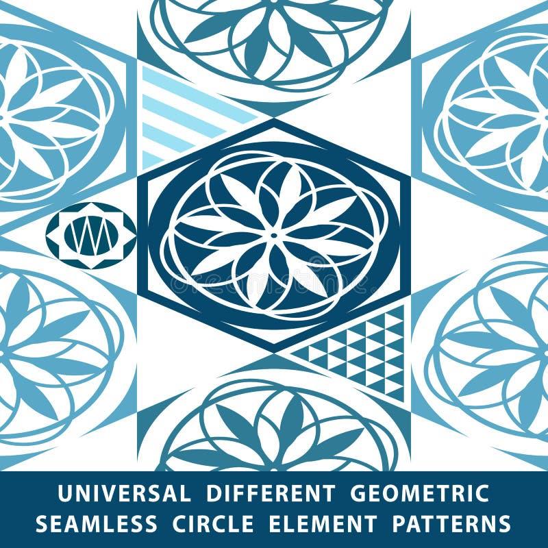 Modelos inconsútiles de diverso vector del universal embaldosado La textura sin fin se puede utilizar para el papel pintado, terr stock de ilustración