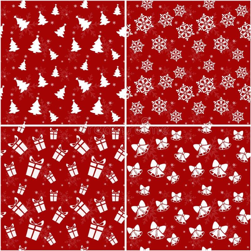 Modelos inconsútiles de la Navidad. Ejemplo del vector. ilustración del vector