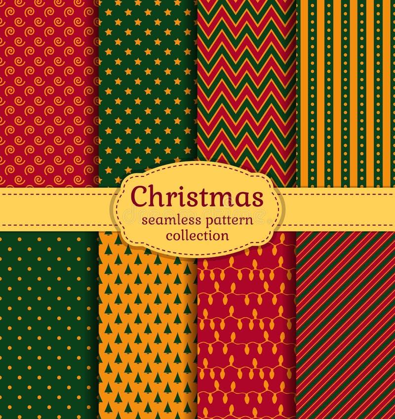 Modelos inconsútiles de la Navidad Sistema del vector libre illustration
