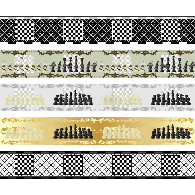 Modelos inconsútiles del ajedrez stock de ilustración