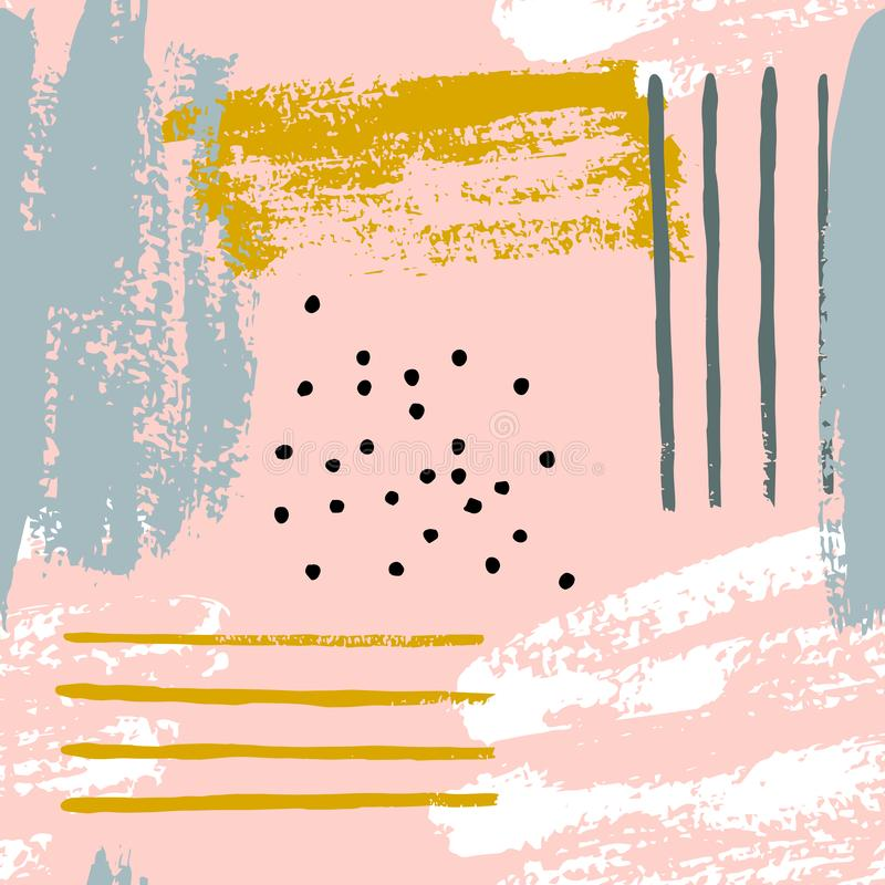 Modelos inconsútiles del cepillo del extracto libre illustration