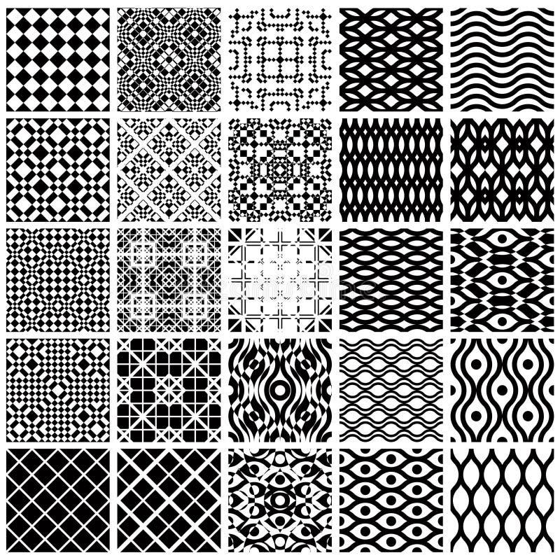 Modelos inconsútiles geométricos. ilustración del vector
