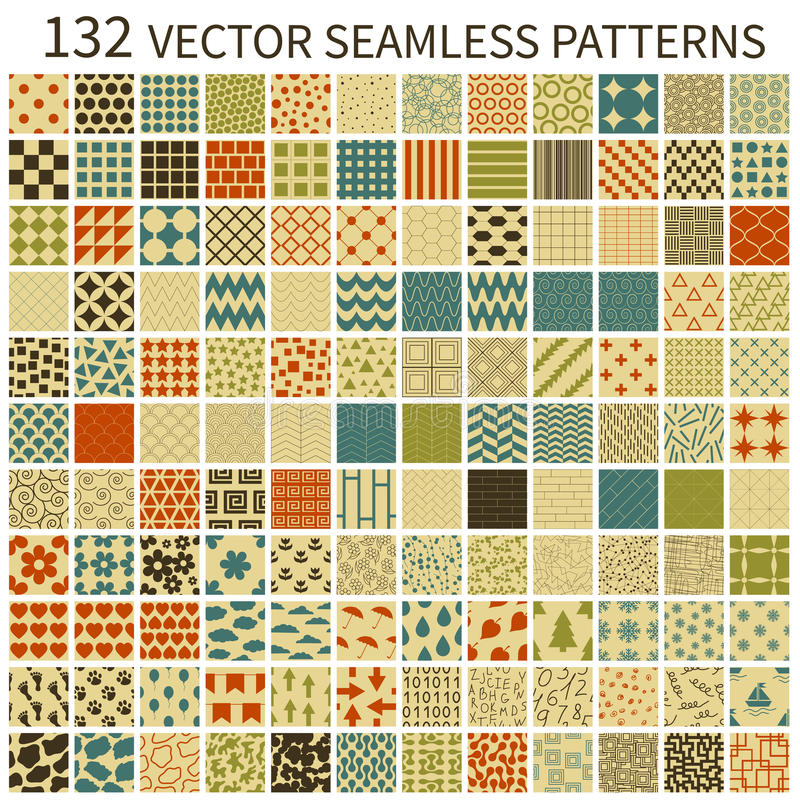 Modelos inconsútiles retros ilustración del vector