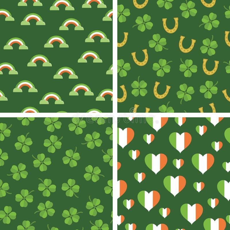 Modelos irlandeses stock de ilustración