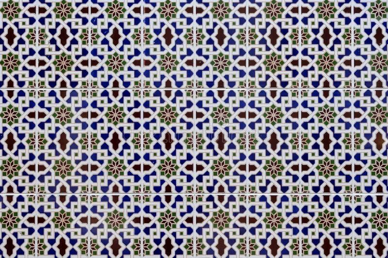 Modelos islámicos de la porcelana foto de archivo