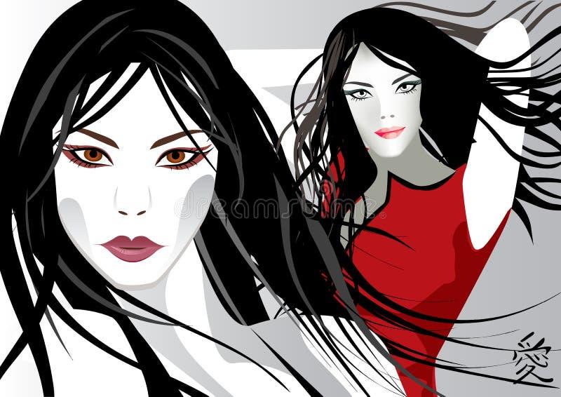 Modelos jovenes cobardes libre illustration