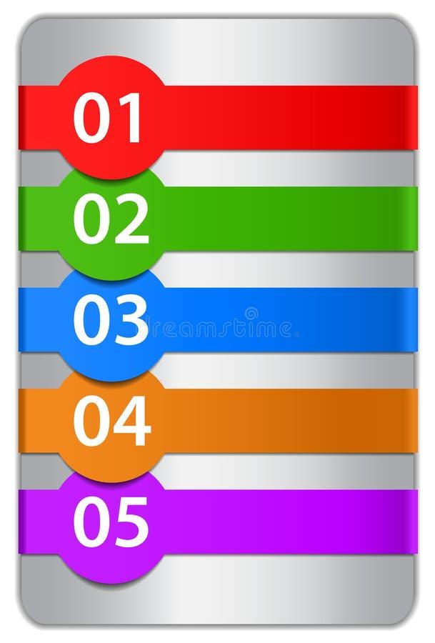 Modelos numerados del diseño ilustración del vector