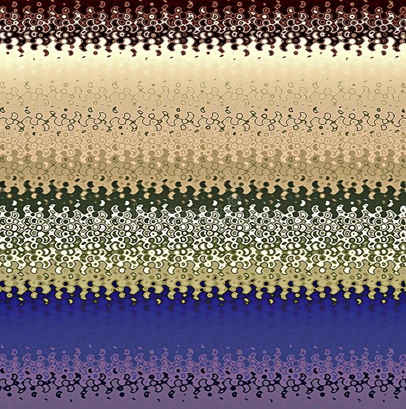 Modelos ondulados del extracto de la pintura de Digitaces en diversas sombras del fondo fresco de los colores en colores pastel stock de ilustración