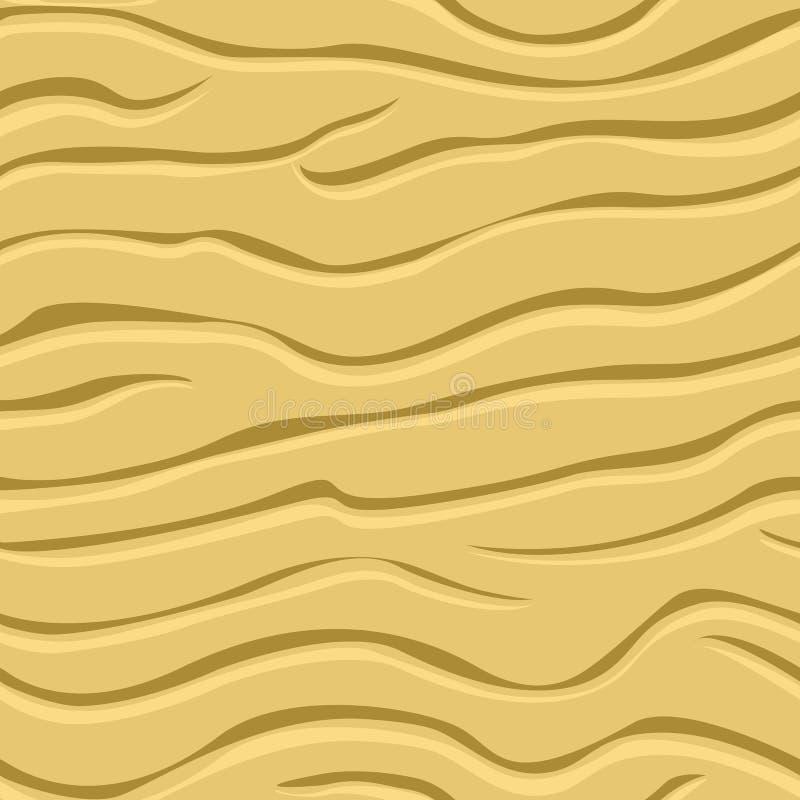 Modelos ondulados en la arena libre illustration