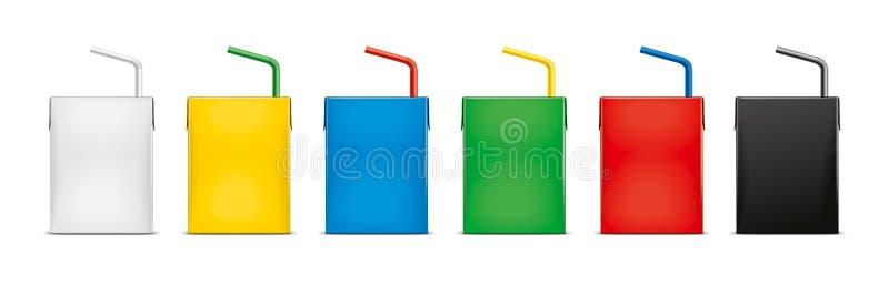 Modelos para bebidas de empacotamento da caixa versão fotografia de stock