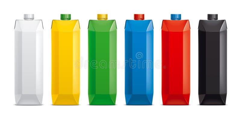 Modelos para bebidas de empacotamento da caixa versão foto de stock