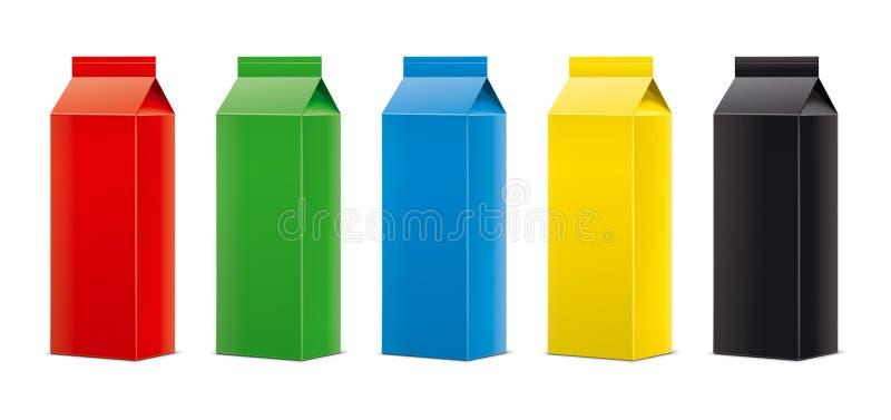 Modelos para bebidas de empacotamento versão imagem de stock