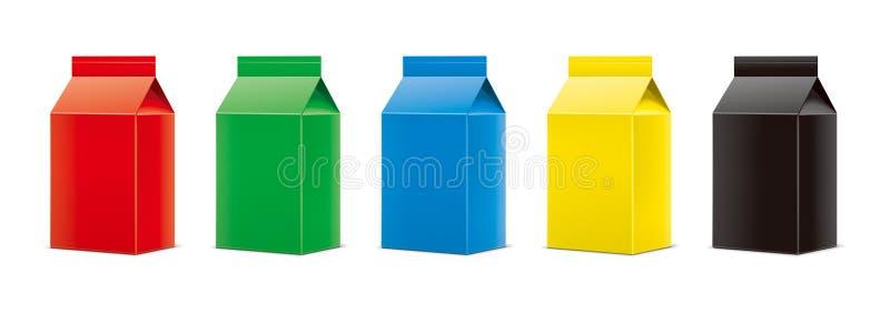 Modelos para bebidas de empacotamento versão fotos de stock royalty free