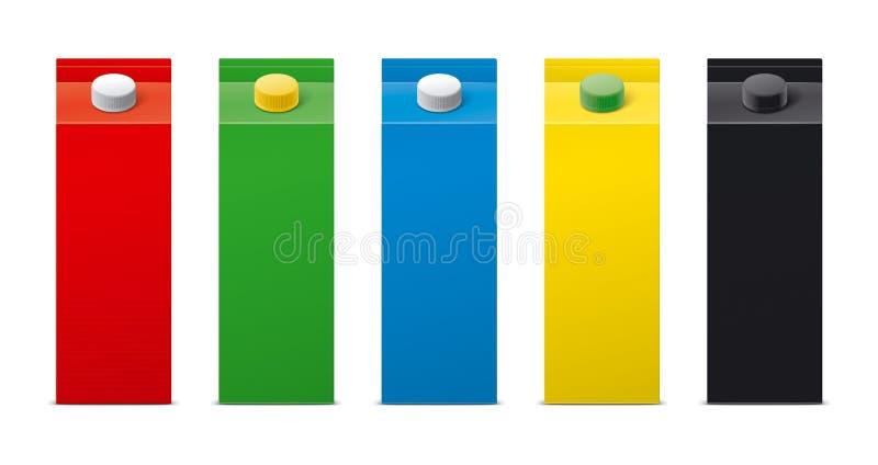 Modelos para bebidas de empacotamento versão imagem de stock royalty free