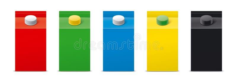 Modelos para bebidas de empacotamento versão fotografia de stock