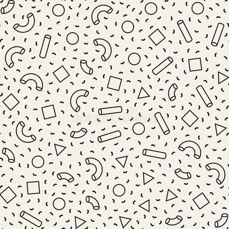 Modelos primitivos inconsútiles del minimalismo del revoltijo Formas geométricas aleatoriamente dispersadas Backgroun retro abstr libre illustration