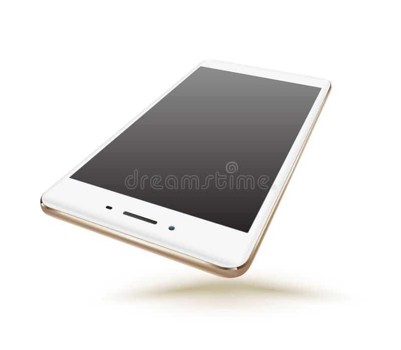 Modelos realísticos novos do smartphone do ouro ilustração royalty free