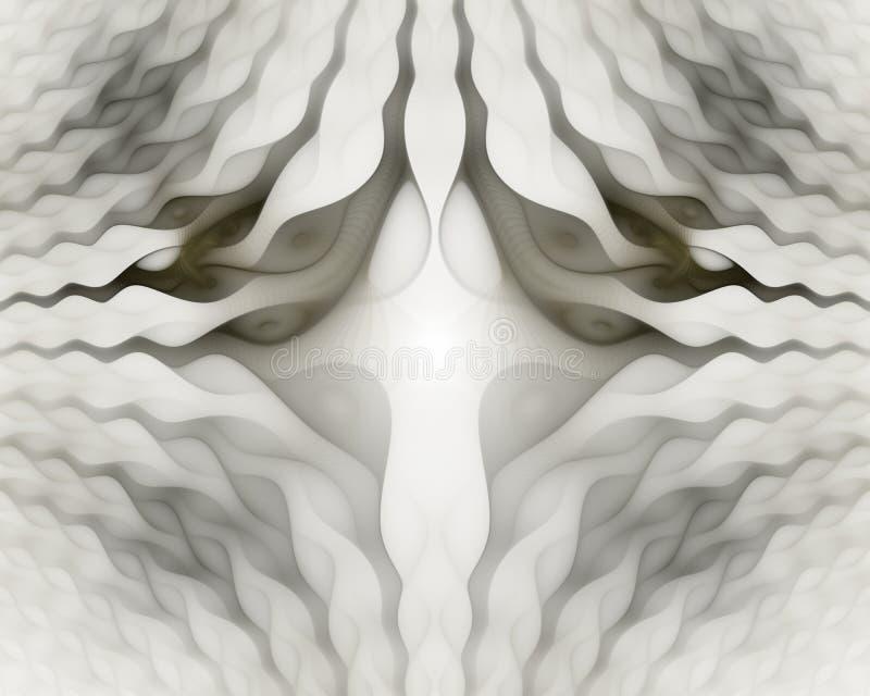 Modelos simétricos ondulados de las células Formas geom?tricas, org?nicas Modelo geométrico colorido del extracto para el diseño  stock de ilustración