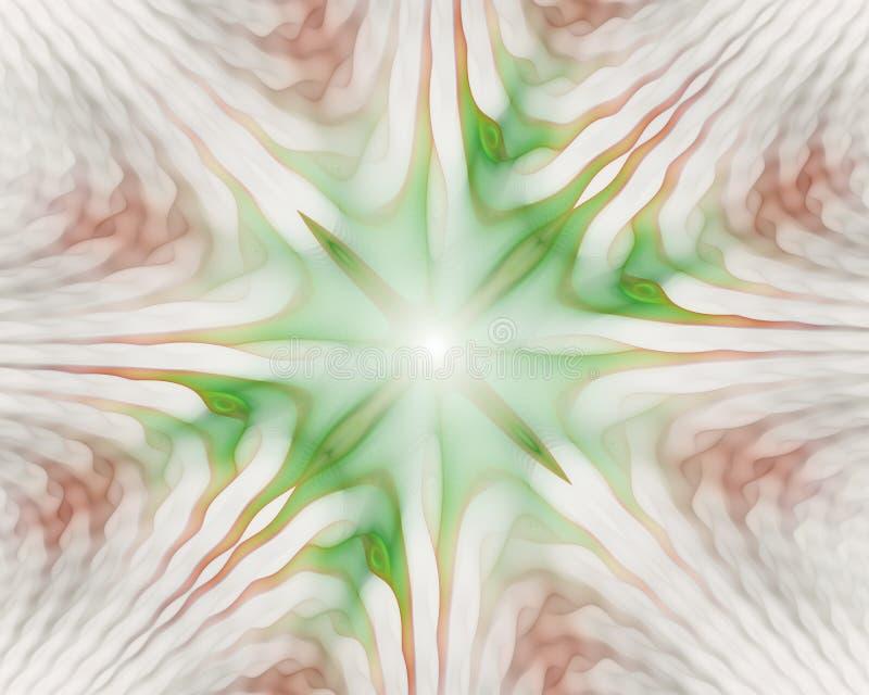 Modelos simétricos ondulados de las células Formas geom?tricas, org?nicas Un contexto hermoso para el substrato stock de ilustración