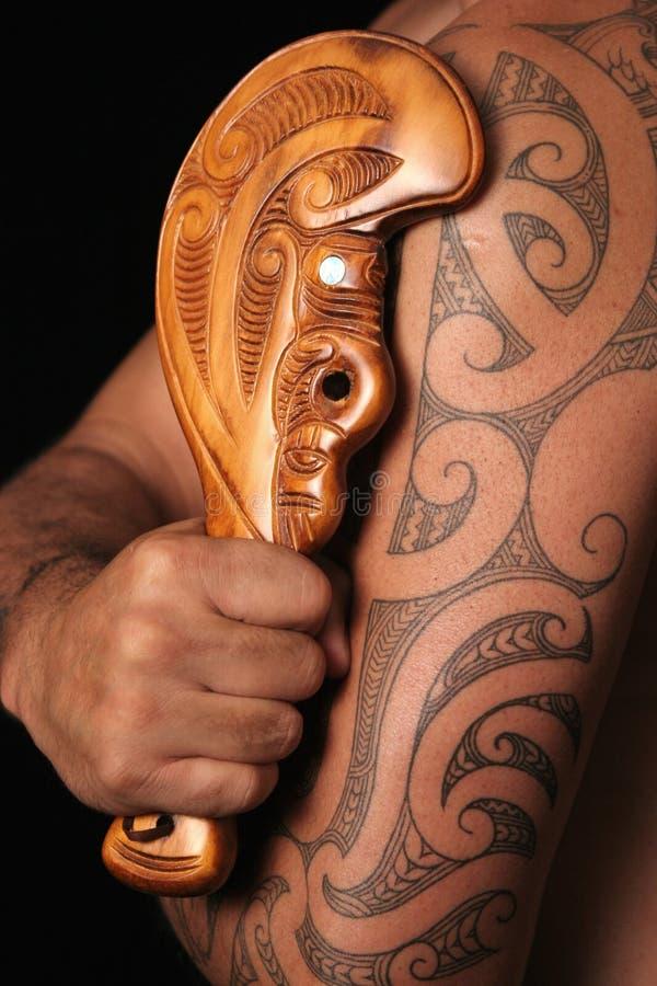 Modelos tribales maoríes fotografía de archivo