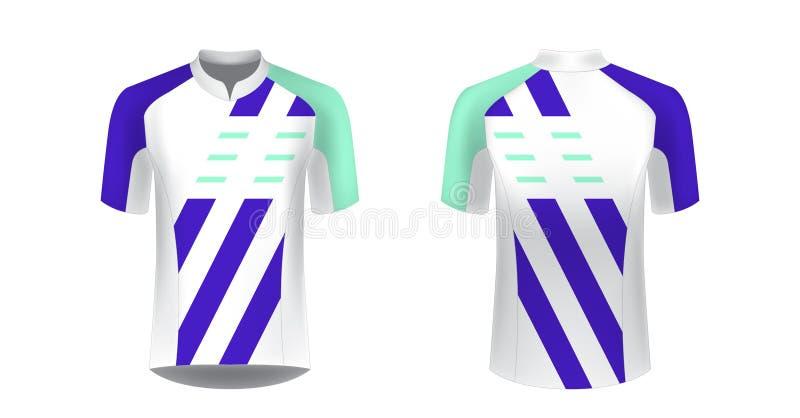 modelos uniformes de ciclismo ilustração do vetor