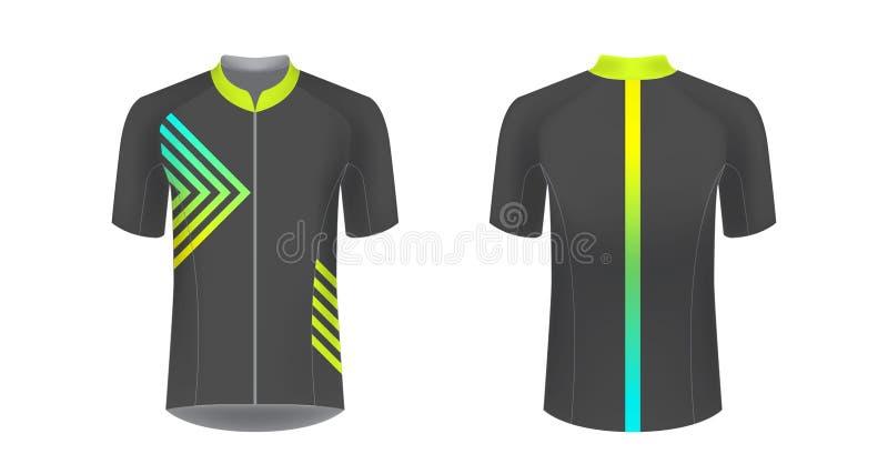 modelos uniformes de ciclismo ilustração royalty free