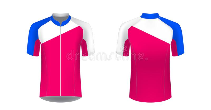 modelos uniformes de ciclismo ilustração stock