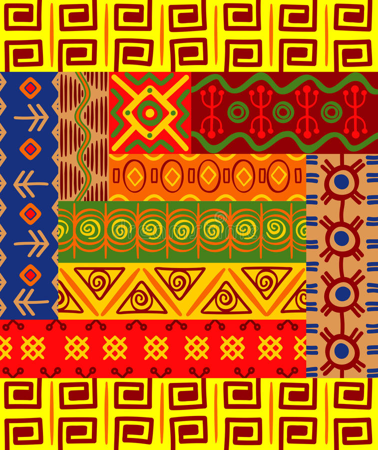 Modelos y ornamentos africanos libre illustration