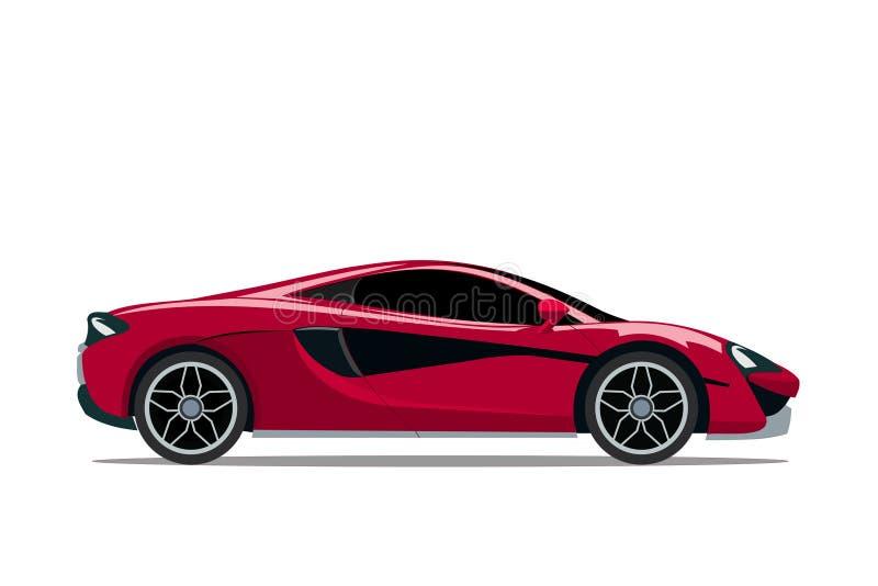 Modelrood van profielauto Super moderne auto'ssporten royalty-vrije illustratie