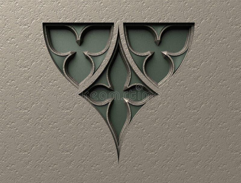 Models for architectural interior design, 3D illustration, artist, texture, graphic design, architecture,illustration, symbol of w. Ealth, medicine, healing stock illustration