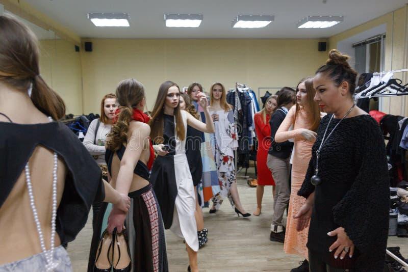 Models change clothes stock photos
