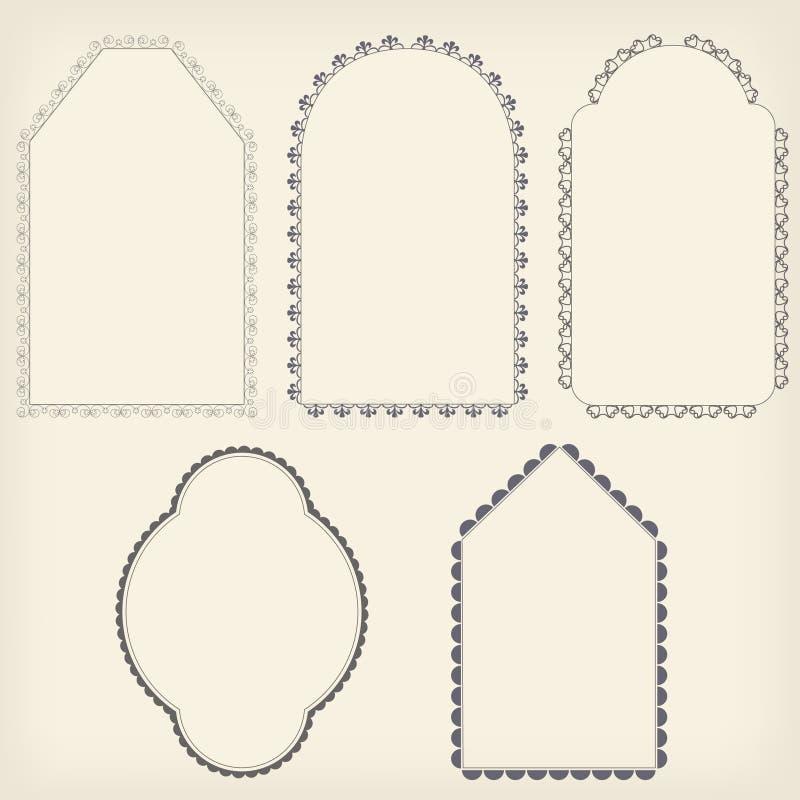 Download Models frame ornaments stock illustration. Image of artistic - 22271947