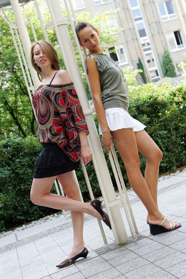 Models posing royalty free stock image