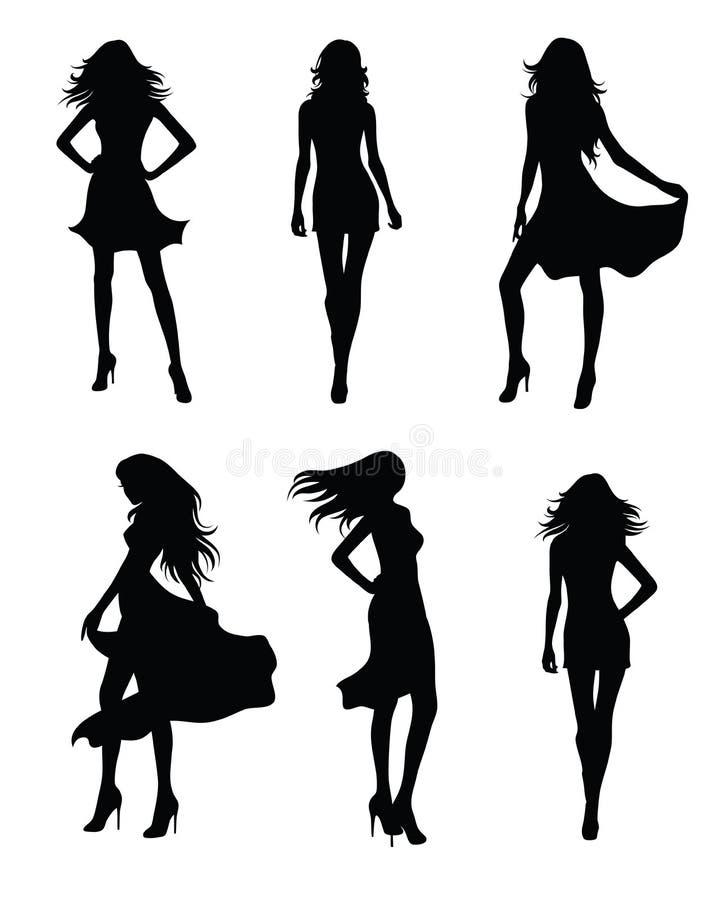 Models. stock illustration