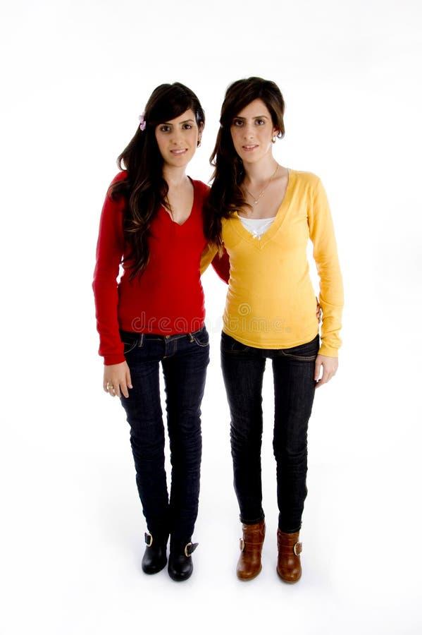 models standing twins young στοκ φωτογραφία με δικαίωμα ελεύθερης χρήσης