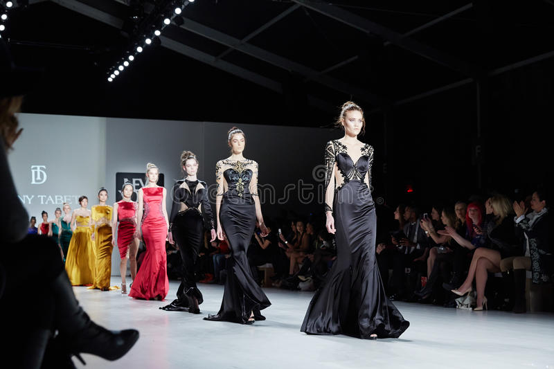 Download Models Walk Runway In Dany Tabet Dress At The New York Life Fashion Show During MBFW Fall 2015 Editorial Stock Image - Image: 51425574