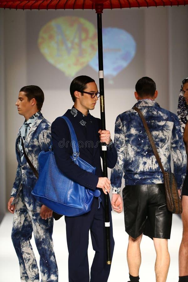 Models walk the runway at the Malan Breton fashion show. NEW YORK, NY - SEPTEMBER 10: Models walk the runway at the Malan Breton fashion show during Spring 2016 stock images