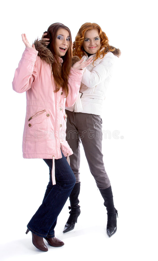 Download Models in warm clothes stock photo. Image of looking, hood - 7256710