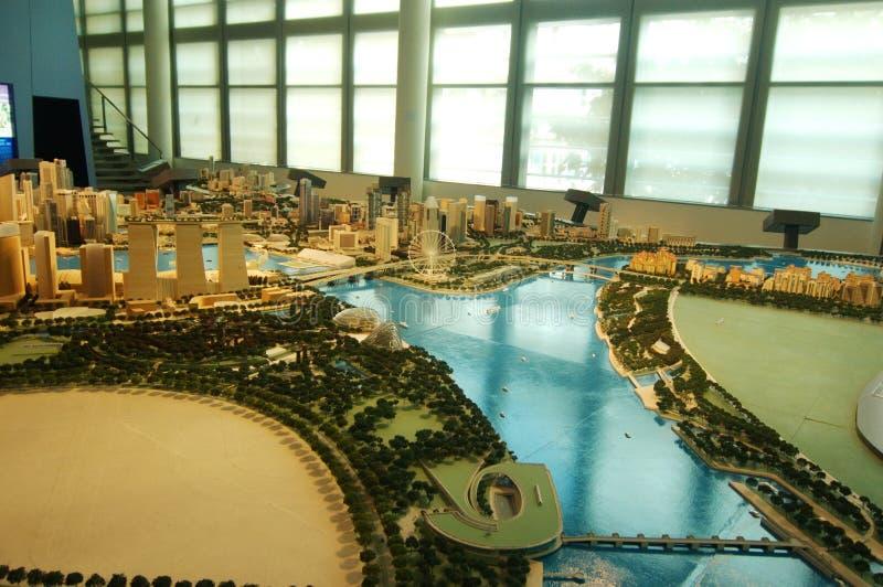 Modelstad Singapore stock afbeelding