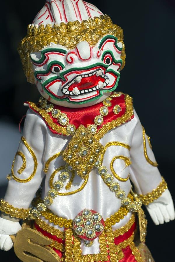 Modelwhite hanuman voor marionet (marionet) stock afbeeldingen